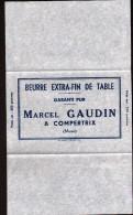 51 - COMPERTRIX, ETIQUETTE NEUVE D'EMBALLAGE DE BEURRE AVEC SA FEUILLE ALU, 2 SCANS - Fromage