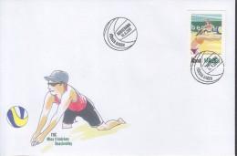 ALAND 2011 My Stamp, Beach Volleyball  FDC - Aland