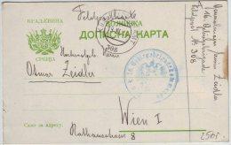 AUSTRIA - SRBIJA - SERBIA MILITARY POSTCARD -  K.u.K. FELDPOSTAMT  308 - To WIEN - 19.11.1914. - RARE - Covers & Documents