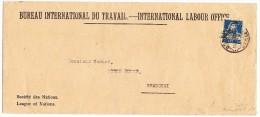 Brief Bureau International Du Travail BIT 14.III.28 Genève Rasierklingen Stempel Nach Shanghai Mit Ak St. - Service