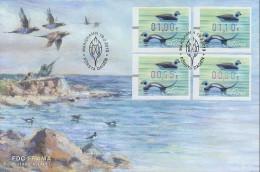 ALAND 2013 Automat Stamp Ducks FDC - Aland
