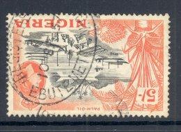 NIGERIA, Postmark ´EBUIEMETTA REGISTERED´ On 5/- Stamp - Nigeria (...-1960)