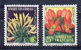 Serie   Nº 243/4 Africa Equatorial Francesa. - Plants