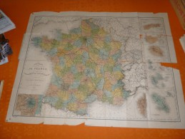 CARTE FRANCE ET COLONIES PAR VUILLEMIN 1875 - Geographical Maps