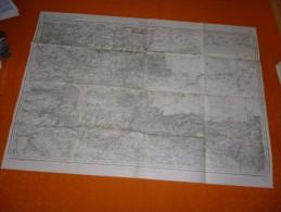 CARTE TOPOGRAPHIQUE ROCROI ET ENVIRONS 1913    ARDENNES - Cartes Topographiques
