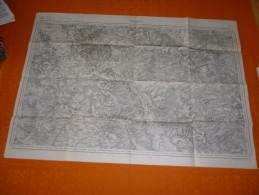CARTE TOPOGRAPHIQUE  VERDUN ET ENVIRONS  1913 - Cartes Topographiques