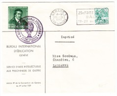 Brief B.I.E.Bureau International D´Education 25.II.1941 Genève 1 Mit BIE DV Marke Pestalozzi Grün III - Officials