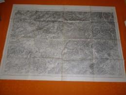 CARTE TOPOGRAPHIQUE  LURE ET ENVIRONS  1913 - Cartes Topographiques