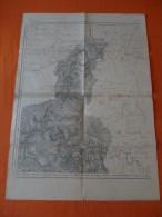 CARTE TOPOGRAPHIQUE  GIVET  ET ENVIRONS  1913 - Cartes Topographiques