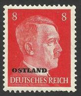 Russia, German Occupation, 8 Pf. 1941, Sc # N14, Mi # 6, MH - 1941-43 Occupation: Germany