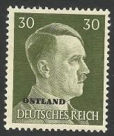 Russia, German Occupation, 30 Pf. 1941, Sc # N24, Mi # 14, MH - 1941-43 Occupation: Germany