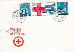 D FDC 1789-91  Helfen, Schützen,Betreuen - Deutsches Rotes Kreuz - [6] République Démocratique