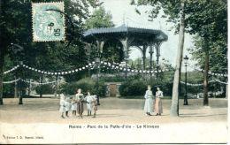 N°39846 -cpa Reims -parc De La Patte D'oie- Le Kiosque- - Reims