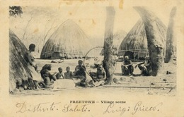 147-1904 Sierra Leone Freetown Village Scene Travelled - Sierra Leone