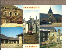 56 ROCHEFORT En TERRE Jolie CPM Ancienne VIERGE / Ed. Jean N° 23.335 Multivues - 5- B.E.  Détail Cf Description - Rochefort En Terre