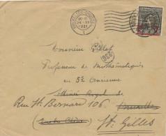 892/22 - Lettre TP Jeux Olympiques - Deux Cachets De BRUXELLES 1921 En Réexpédition - Belgium