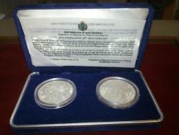 SAN MARINO SERIE 5 + 10 EURO AG SILVER FDC FS - San Marino