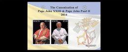 Malta 2014 - The Canonisation Of Pope John XXIII & Pope John Paul II Sheet Mnh - Papas