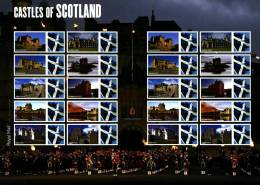GREAT BRITAIN - 2009  CASTLES OF SCOTLAND  GENERIC SMILERS SHEET   PERFECT CONDITION - Fogli Completi