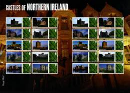 GREAT BRITAIN - 2009  CASTLES OF NORTHERN IRELAND  GENERIC SMILERS SHEET   PERFECT CONDITION - Fogli Completi