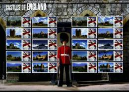 GREAT BRITAIN - 2009  CASTLES OF ENGLAND  GENERIC SMILERS SHEET   PERFECT CONDITION - Fogli Completi