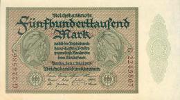 Deutschland, Germany - 500 000 Mark, Reichsbanknote, Ro. 87 C,  ( Serie G ) UNC- ( I- ), 1923 ! - 500000 Mark