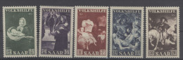 Saar Michel No. 309 - 313 ** postfrisch