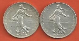 2 pi�ces de 2 francs 1914 /1919