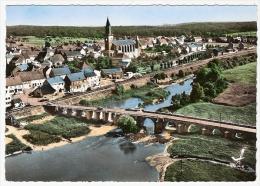 CPSM 67 HERBITZHEIM Près Vœllerdingen Vue Aérienne Bords De La Sarre Eglise Pont Lapie Années 60 70 Rare - France