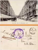 Lyon, Rue De La République (cachet Militaire : Gare De Lyon Perrache) - Lyon