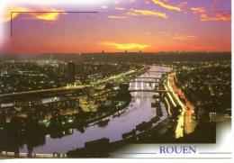 Rouen : La Seine Ses Ponts Ses Quais Vus De La Côte Sainte Catherine (coucher De Soleil) N°267 Le Goubey - Rouen