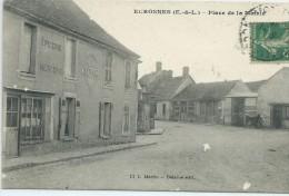 28, Eure Et Loir, ECROSNES, Place De La Mairie, Scan Recto-Verso - Autres Communes