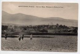 QUINTENAS (07) - VUE SUR BRUN, MONTJOUR ET ROCHE DE VENT - CPA PEU COURANTE - Other Municipalities