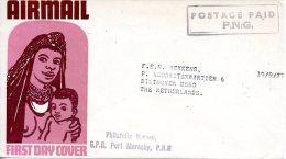 PAPOUASIE. Enveloppe Ayant Circulé En 1977. - Papouasie-Nouvelle-Guinée