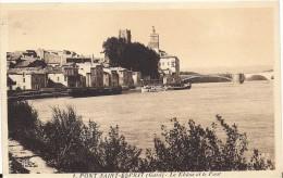 30 PONT SAINT ESPRIT 1940 MAISONS BORD DU RHONE PONT ED APA 1 TBE - Pont-Saint-Esprit