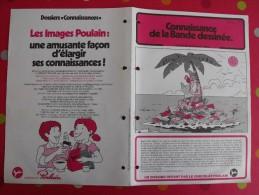 Chocolat Poulain. Dossier Connaissance N° 29 : Bandes Dessinées. Complet. Années 1970 - Poulain
