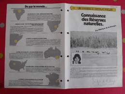 Chocolat Poulain. Dossier Connaissance N° 31 : Réserves Naturelles. Complet. Années 1970 - Poulain