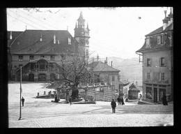 V1414 - SUISSE - FRIBOURG - Hotel De Ville - Plaque Photo Originale à Ne Pas Manquer - Diapositiva Su Vetro