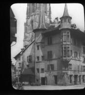 V1418 - SUISSE - FRIBOURG - Vieille Maison - Plaque Photo Originale à Ne Pas Manquer - Diapositiva Su Vetro