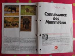 Chocolat Poulain. Dossier Connaissance N° 1 ; Mammifères. Complet. Années 1970 - Poulain