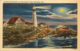 Pays Divers -etats Unis- Usa -ref C323-portland  Headlight , Cape Elisabeth -phare - Postcard In Good Condition  - - Portland
