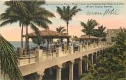 Pays Divers -etats Unis- Usa -ref C315- Miami Beach -florida - Roney Plazza Hotel And Cabana Sun Club   - - Miami Beach