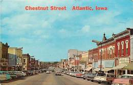 Pays Divers -etats Unis- Usa -ref C311- Chesnut Street -atlantic , Iowa - Postcard In Good Condition - - Etats-Unis