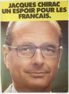 Affiche du R.P.R - Jacques CHIRAC, UN ESPOIR POUR LES FRANCAIS...1974 - Format : 58 x 78 cm