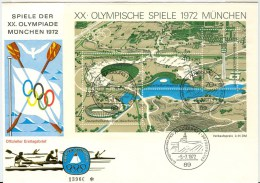 GERMANY Complete Block On Cover With First Day Cancel Augsburg 1 - Summer 1972: Munich