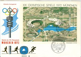 GERMANY Complete Block On Cover With First Day Cancel München 2 - Summer 1972: Munich