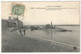 30 - PONT-SAINT-ESPRIT - Vue De La Basse Ville, Le Port, Le Toueur N° 2 - Dans Le Lointain, Le Pont - MTIL 5026 - Pont-Saint-Esprit