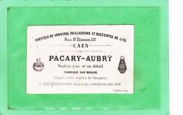 CAEN (14) / CARTES DE VISITES / VANNERIE / Fabrique De Vannerie PACARY-AUBRY?rue Saint-Etienne CAEN Gros & Détail - Cartes De Visite
