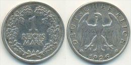 1 Reichsmark 1926 A, Weimarer Republik, Silber - [ 3] 1918-1933 : Weimar Republic