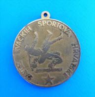 CROATIAN WRESTLING FEDERATION - Croatian Championship For Pioneers 1985. Medal * Lutte Lotta Lucha Ringen Luta Medaille - Wrestling